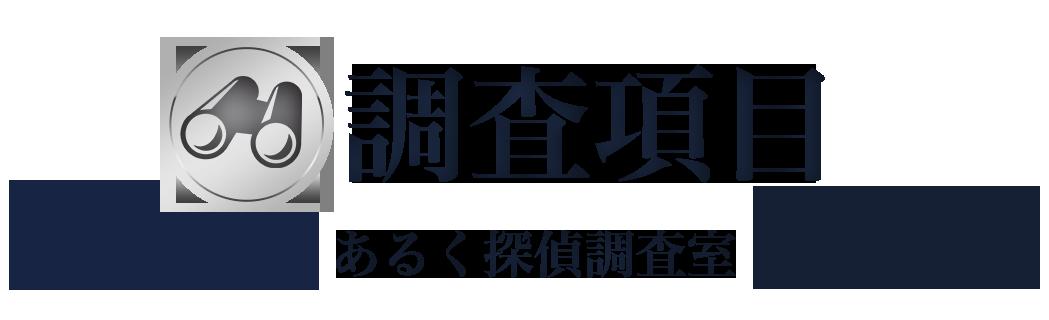 横浜あるく探偵調査室・調査項目・浮気・不倫
